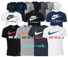 Nike Mens Crew Neck Classic Short Sleeve Gym Cotton Logo T-Shirt Size Air Max