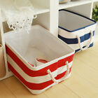 Household Fabric Rectangle Storage Box Basket Bag Organizer Container
