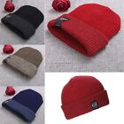 Unisex Beanie Double Cuffed Hat Women Men Fashion Stretch Knit Solid Warm Hat