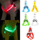LED Light Pet Dog Harness Leash Breathable Mesh Nylon Adjustable Puppy Collar