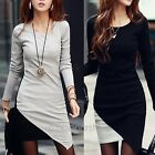 Women Bodycon Evening Cocktail Party Long Sleeve Round Neck Sexy Dress  Joint