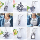 Women Love Head Star Shield Pendant Bib Chain Necklace Cool Jewelry