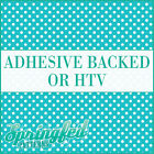 Aqua & White Polka Dot Pattern Adhesive Craft Vinyl or HTV for Crafts or Shirts!