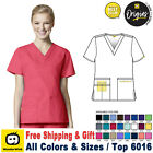 WonderWink Scrubs ORIGINS Women's Medical Bravo Solid V-Neck Top 6016 XXS-5X