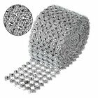 Silver Sunflower Diamond Mesh 1/5/10Yards 12cm DIY Warps 6Rows Rhinestone Ribbon