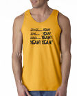 071 Mock Yeah Tank Top dumb funny movie 90s party vintage music new cool