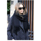HOT new Acne Pure Color Virgin Wool Unisex Pashmina Cashmere Scarf Shawl