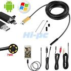 10M/5M/2M Android Endoscope Waterproof USB Borescope Inspection camera 7mm 6 LED