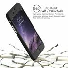 Hybrid 360° Hard Thin Case + Tempered Glass Cover For IPhone 7 7+ 6 5 SE 6S PLUS