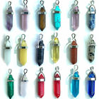 Gemstone Pendant Necklace Natural Quartz Crystal Point Chakra Healing Stone New