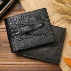 Men Vintage #C Genuine Leather Wallet Handmade Purse for Boyfriend Black Coffee