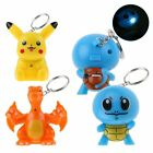 POKEMON Monster PIKACHU Charizard Squirtle LED with Sound Keyring KeyChain Gift