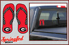 Georgia Bulldogs G Logo FLIP FLOPS Vinyl Decals UGA Car Sticker PICK A SIZE!