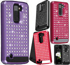 For LG K7 / Tribute 5 HYBRID IMPACT Diamond Case Phone Cover Accessory