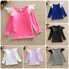 Toddler Kids Baby Girls Long Lace Sleeves T-shirt Top Blouse Clothes Fashion Tee