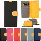 Magnetic Wallet Flip TPU + PU Leather Card Holder Case Cover for Sony Xperia