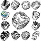 Size 6-9 Fashion Men's Punk Ring Retro Stainless Steel Rings Holiday Gifts Rings