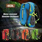 40L Waterproof Breathable Shoulder Backpack Outdoor Camping Daypack Blue R1P5