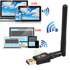 150-600Mbps Single/Dual Band 2.4/5Ghz Wireless USB WiFi Network Adapter Antenn