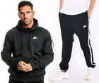 Nike Tribute Tracksuit Poly Hoody Sports Jog Jogging Black White