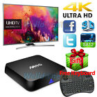 1G/2G+8G M8S Android Smart TV Box WIFI 3D TV BOX Quad Core+Keyboard Lot