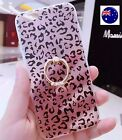 "Lady Iphone 7 Plus 5.5"" Leopard bling Ring Support TPU Case Protector Cover"
