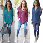 Fashion Women Blouse Chiffon Long Sleeve Ladies Top T Shirt Casual Loose Top LOT