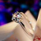 5 Ct White Sapphire Claw Ring 10kt White Gold Filled Wedding Rings Band Size5-12