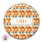 Personalised FOX Compact/Handbag/Purse/Makeup/Bag Pocket Mirror (58mm)
