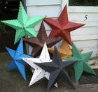 "authentic AMISH BARN TIN STAR primitive rustic 29"" MANY COLORS red black white"