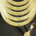 14K ITALY GOLD PLATED 14m HERRINGBONE CHAIN NECKLACE GUARANTEED SAME DAY  H14ALL