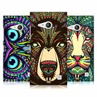 HEAD CASE DESIGNS AZTEC ANIMAL FACES HARD BACK CASE FOR NOKIA LUMIA 730 / 735
