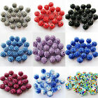 DIY 20Pcs Czech Crystal Rhinestones Pave Clay Round Disco Ball Spacer Beads 9mm