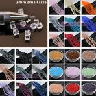 Wholesale Lot 3mm Cube Square Faceted Crystal Glass Loose Spacer Beads Jewelry