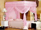 4 Poster Canopy Princess Pink Mosquito Nets Cal King Full Queen Twin-XL Bed Size