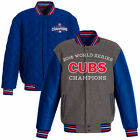"""Chicago Cubs 2016 World Series MLB Champions Jacket Reversible Gray Royal """"SALE"""" on Ebay"""