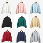 Korean Women Fashion Hoodie Sweatshirt Casual Hooded Coat Pullover Tops Jacket P