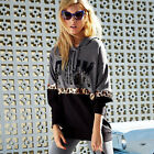 Women Long Sleeve Loose Pullovers Sweatshirt Coat Outerwear Hooded Sweats Jumper