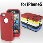 Heavy Duty Builders Workman Case Cover For Apple iPhone 5/5S Full Armour+ Film