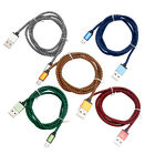 New Fashion 3FT Braided Aluminum USB Android Data Cable for Samsung US