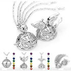 Openable Angel Wings/Tree of Life 7 Chakra Gemstones Chain Necklace Pendant Gift