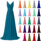 Long Chiffon Lace Evening Formal Party Ball Gown Prom Bridesmaid Dress Size 6-26