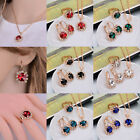 Women's Gold Plated Chain Chunky Earrings Ring Necklace Party Jewelry Set