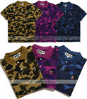 New Bape A Bathing Ape Mens Camo T-shirt Shark Polo Shirt Poloshirts Casual Tops