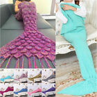 Fashion Soft Crocheted Knitted Mermaid Blanket Handmade Tail for Kids and Adults