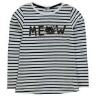 Heatons Kids Girls YG Meow T Shirt Casual Embroidered Long Sleeve Crew Neck Tee