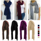 Fashion Unisex Knitted Scarf Warm Fringe Cold Winter Chenille Long Wrap Shawl !!