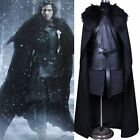 US Stock! Jon Snow Men Game of Thrones Cosplay Costume Halloween Cloak Outfit