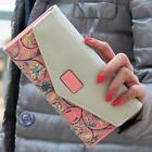 Women Long Envelope Leather Wallet Card Clutch Purse Handbag Mobile Holder Bag S