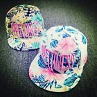 Women Embroidery Floral Snapback Hip-Hop Hat Flat Peak Baseball Cap Adjustable